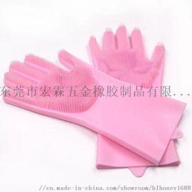 家用硅橡胶手套防水防油硅洗碗手套