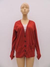 春秋女士長袖針織開衫,純棉外套