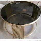 鍍金不鏽鋼茶几加工廠家 客廳茶幾角幾定製