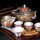 琺琅純銀茶具A德州琺琅純銀茶具A琺琅純銀茶具直銷