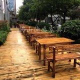 碳烧餐桌椅仿古实木家具石锅鱼火锅桌椅户外悠闲家具