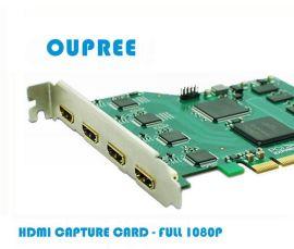 欧柏锐品牌OPR-HD400流媒体/IPTV采集卡-4路同时采集摄像机