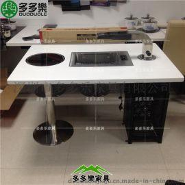 韩式的烧烤桌 中国特色烧烤店餐桌椅 自助烤肉桌