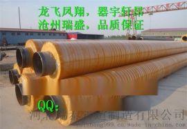 供应钢套钢硅酸铝保温钢管 聚氨酯保温管 黄夹克保温管