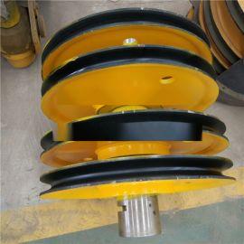 **20吨铸造车轮组 定制国标滑轮组双梁定滑轮组