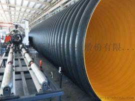 排污钢带波纹管,HDPE钢带增强聚乙烯螺旋波纹管