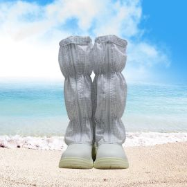 防靜電鞋 鋼包防穿刺頭無塵潔淨車間網格高筒勞保鞋