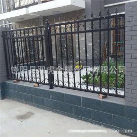 小区围墙栏杆铁艺护栏 欧式围栏网工艺围网