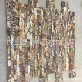 锈色碎拼文化石 文化石厂家直销 量大优惠 黄色文化石冰裂纹