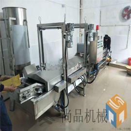 薄脆油炸机生产线 麻叶油炸机 薄脆油炸机可带料试机