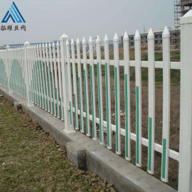 围墙绿化栅栏/PVC草坪栏杆