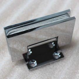 广州乐朗厂家批发RSH-111淋浴房玻璃铜镀光铬浴室玻璃夹