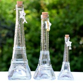 创意礼品玻璃铁塔瓶木塞许愿瓶玻璃漂流瓶工艺瓶花瓶玻璃瓶