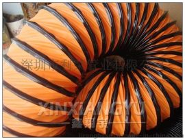 PVC夹网布伸缩风管,隧道矿井通排风管,高温风管