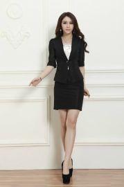 新款长袖职业装女套装 时尚气质白领OL修身西服两件套工作服定做