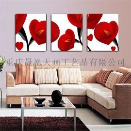 厂家定制客厅装饰画创意无框三联画无框画酒店宾馆批发