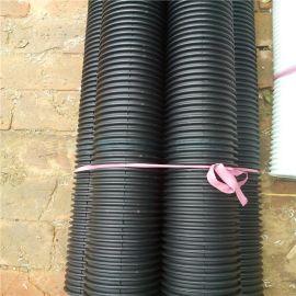隧道工程塑料透水管 黑色pe双壁波纹管