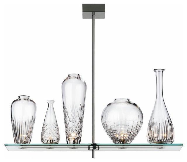 Flos Cicatrices de Luxe 透明手工切割葉紋水晶玻璃瓶358頭吊燈