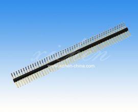 1.27直插排针  安防连接器排针排母 单排90度