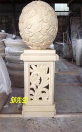 湖北园林景观仿汉白玉砂岩柱墩雕塑定做厂家