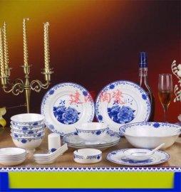 青花瓷碗套装 定做餐具 景德镇陶瓷餐具生产厂家