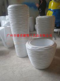 广州玻璃钢雕塑圆形花盆雕塑 特色花盆 各种造型花盆雕塑厂家直销