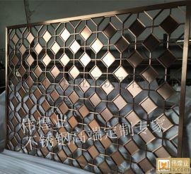 偉煌業出品不鏽鋼鐳射鏤空雕花工藝屏風 專業定制加工各類不鏽鋼屏風隔斷裝飾花格