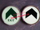 商場安全出口標誌,夜光鋼化玻璃地貼,應急逃生標誌