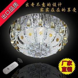 亚奥灯饰外销迪拜新款现代低压水晶客厅卧室吸顶600圆灯90104