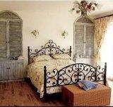 专柜 田园床 欧式床 双人床1.5 床铁 单人床美式铁艺/钢木床涂饰