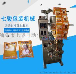 七骏自动化包装机械 四边封液体包装机 辣椒酱包装机调味品包装机