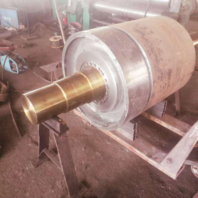 煤矿电厂热硫铸胶改向滚筒总成各种尺寸定制