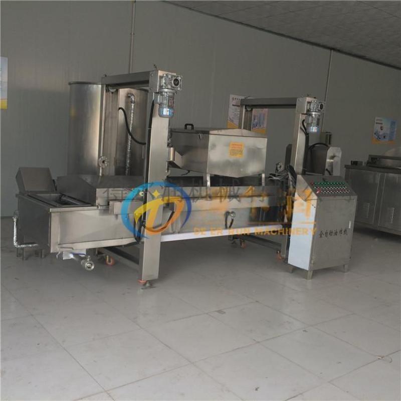 DR6(图) 鸡胗加工油炸生产线 肉丸定型油炸设备