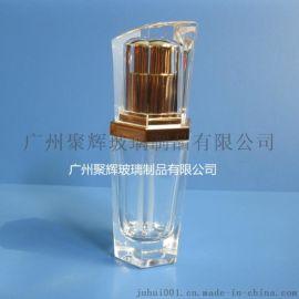 新款40ml六角形乳液瓶 六边形精华液瓶