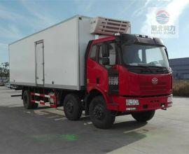 销售解放J6小三轴冷藏车/专业制作冷藏车厂家