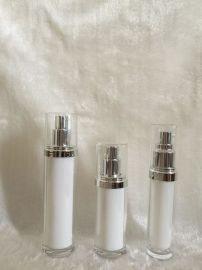 乳白色注塑**定制亚克力乳液瓶膏霜瓶护肤化妆品瓶泵头塑料瓶