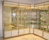 定制展览器材就找广州邦威展览铝合金圆柱精品展柜