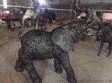 惠安大型馬擺件 石獅大型金屬擺件 鐵藝動物大象