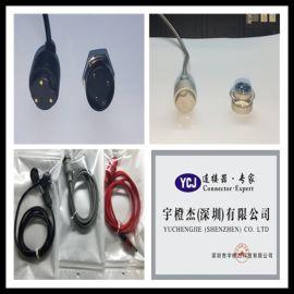 厂家定制圆形2pin磁吸连接器 磁力充电头 吸附式 磁铁连接器接头