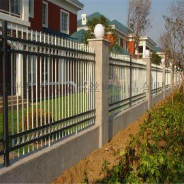 院墙防护栏杆@厂区院墙防护栏@尖头锌钢防护栏