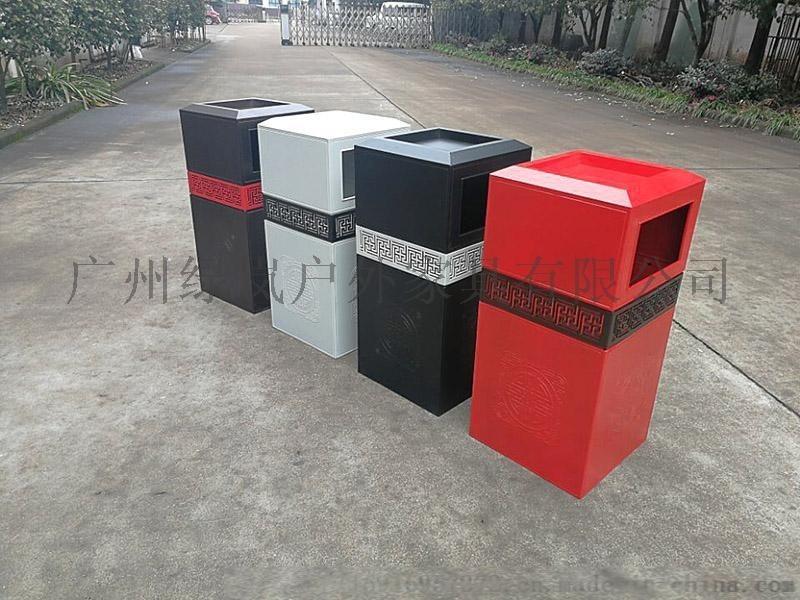 广州舒纳和户外铸铝欧式古典风垃圾桶