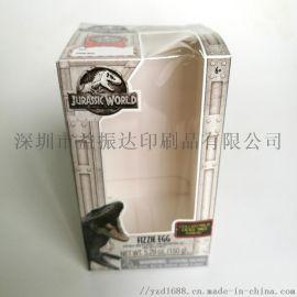 铜板纸盒子印刷定制小玩具包装彩盒带PVC窗口可设计