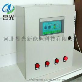 PLC太阳能控制柜、高清触摸屏太阳能热水采暖控制柜