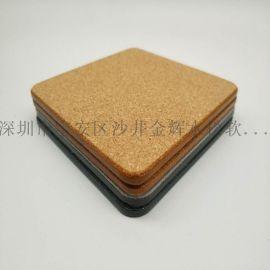 外贸创意杯垫隔热垫中纤板软木杯垫 密度板茶杯垫