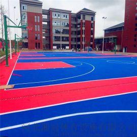 杭州市气垫悬浮地板篮球场塑胶地板拼装地板厂家
