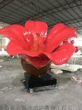 定做景觀雕塑、大型玻璃鋼植物造型雕塑廠家