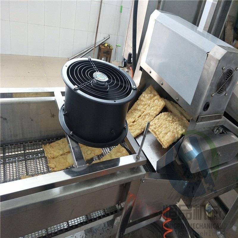 小片腐竹油炸机 全自动腐竹油炸机 高低温豆皮油炸机