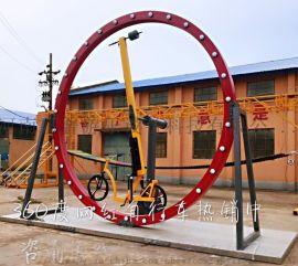 嘉普游乐设备网红360度旋转自行车