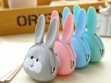 卡通兔子女生可愛矽膠小錢包