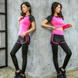 瑜伽運動服套裝女夏顯瘦速幹跑步健身兩件套